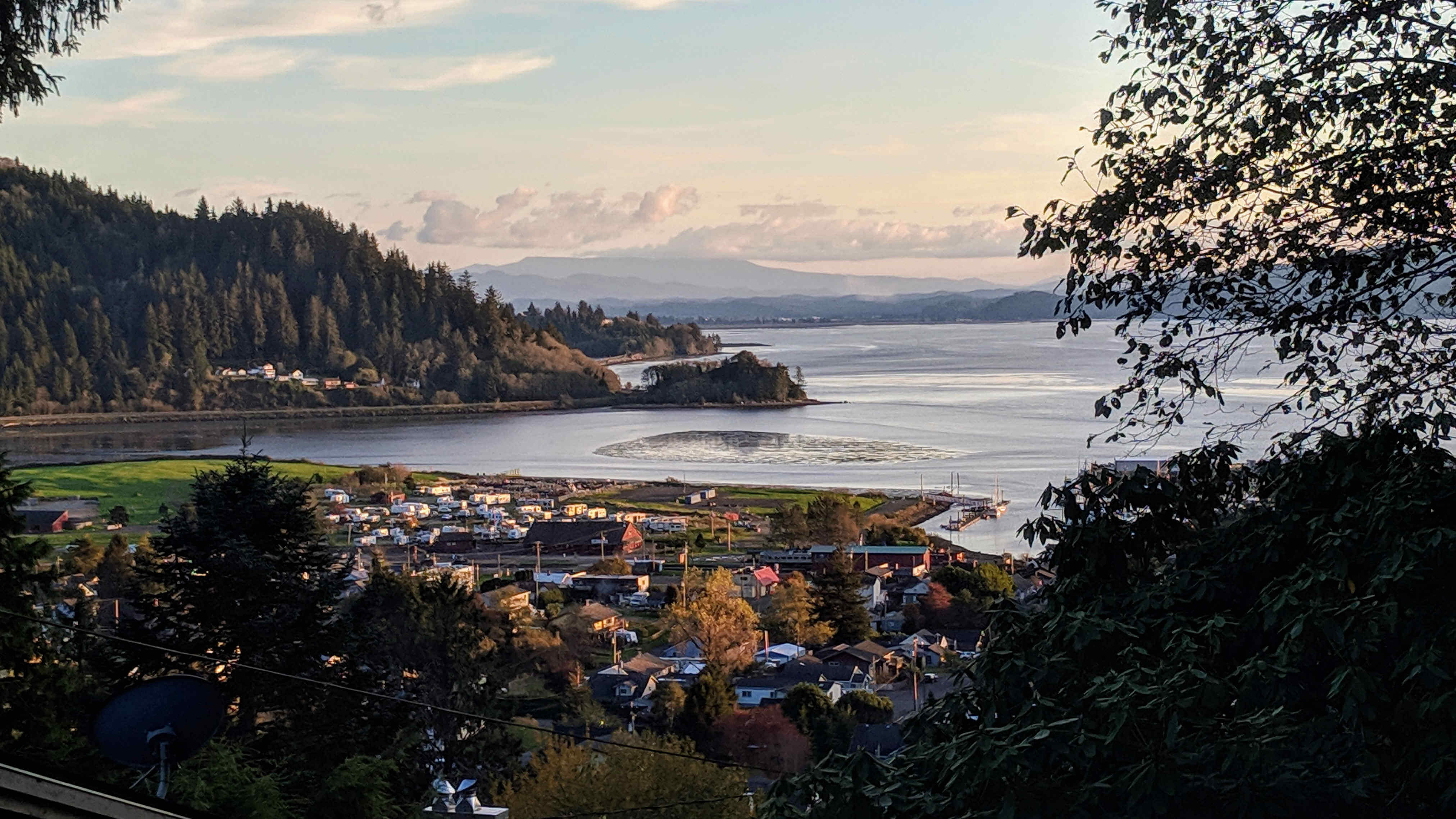 View of Tillamook Bay from Holly St., Garibaldi, OR